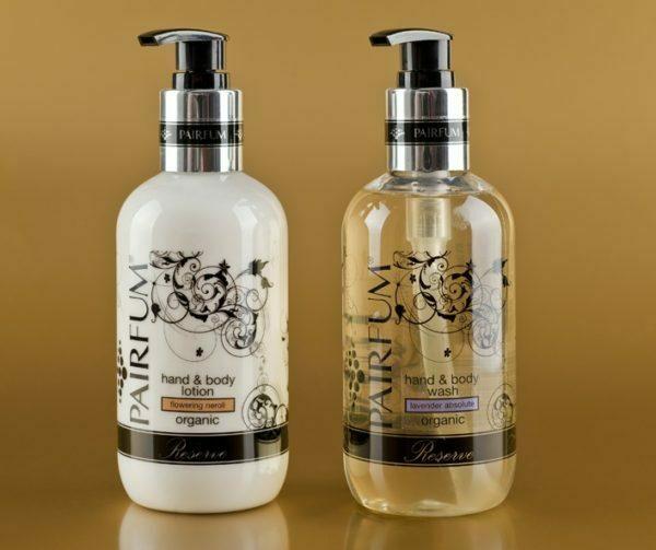 organic hand wash & body lotion