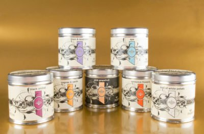Candles in a tin
