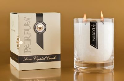 large scented candle snow crystal candle
