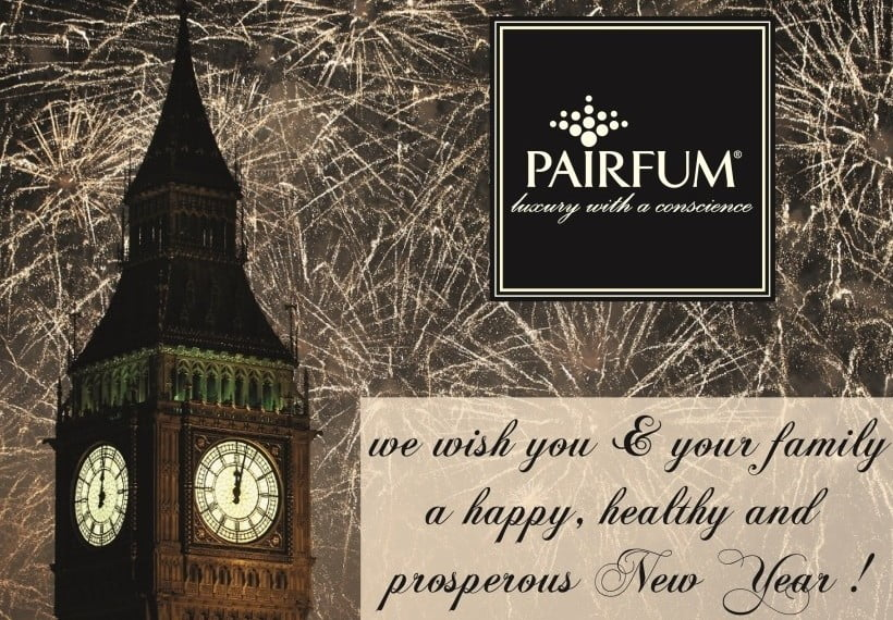 Happy New Year 2015 from Pairfum, natural / organic / healthy, luxury room fragrances, couture perfume for you home, reed diffusers, scented candles