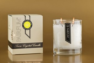 Pairfum Snow Crystal Candle Classic in Ginger & Lemongrass: natural / organic / essential oils