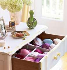 Signature Scent in lingerie drawer