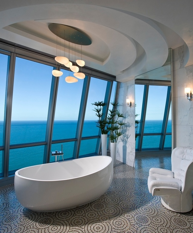 Luxury Bathrooms With Superb Views Sea