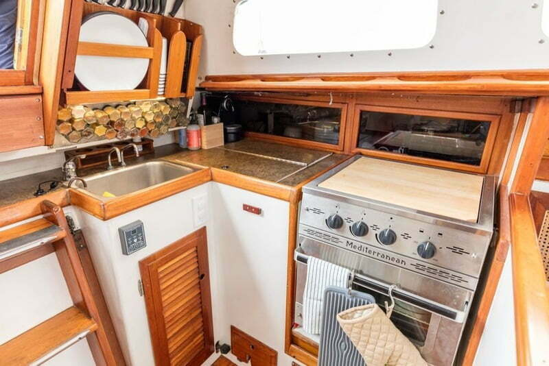 New Yorkers Traded Apartment Sailboat Kitchen Area