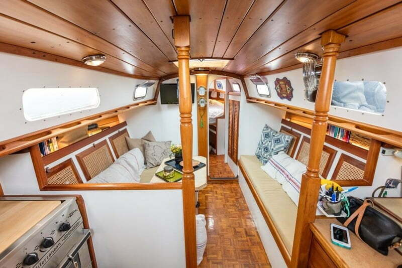 New Yorkers Traded Apartment Sailboat Living Area