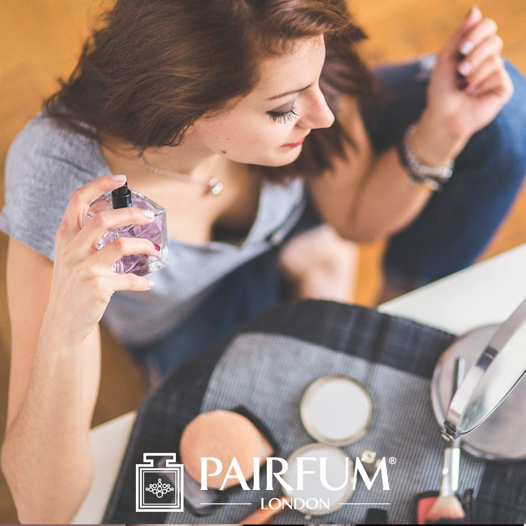 Too Much Perfume Applied By Woman Sitting Down