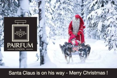 Santa Claus is coming - Merry Christmas from Pairfum
