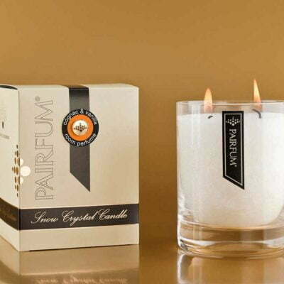 Pairfum Snow Crystal Large Perfumed Candles Cognac Vanilla