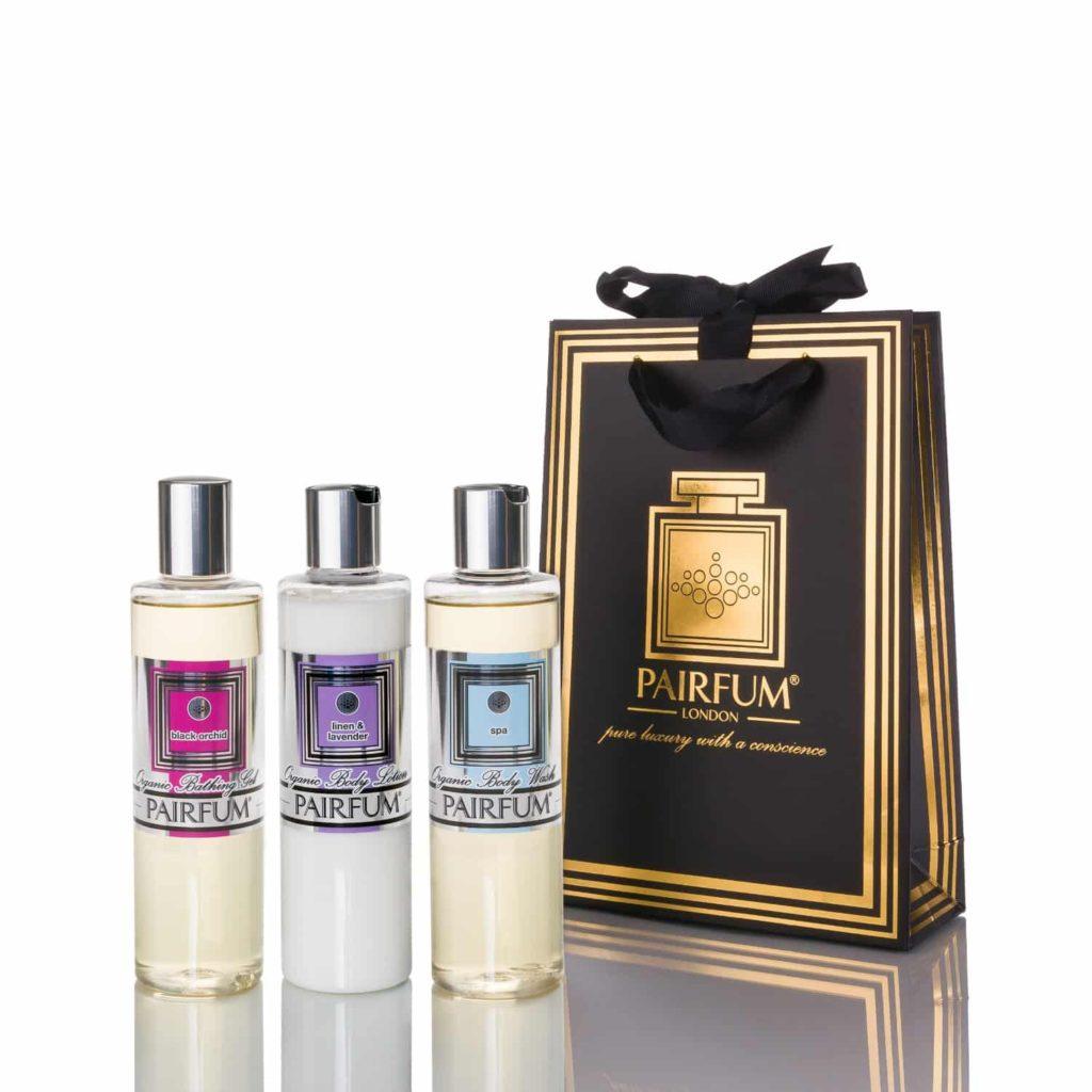 Pairfum Bath Body Giftbag Pre Biotic Body Lotion Wash Oil Bathing Gel