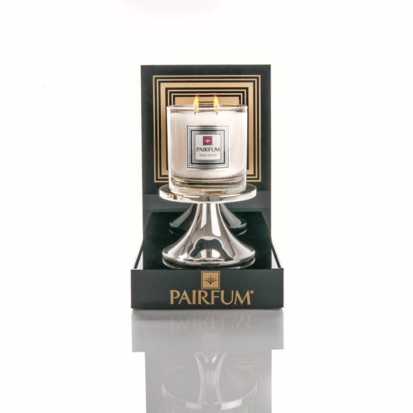 Pairfum Black Acrylic Display Plinth Luxury Scented Candle Holder Silver