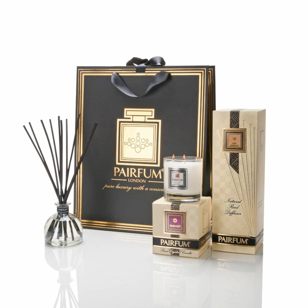 Large Luxury Gift Bag by Pairfum Home Fragrance Perfumed Candle Reed Diffuser Bell