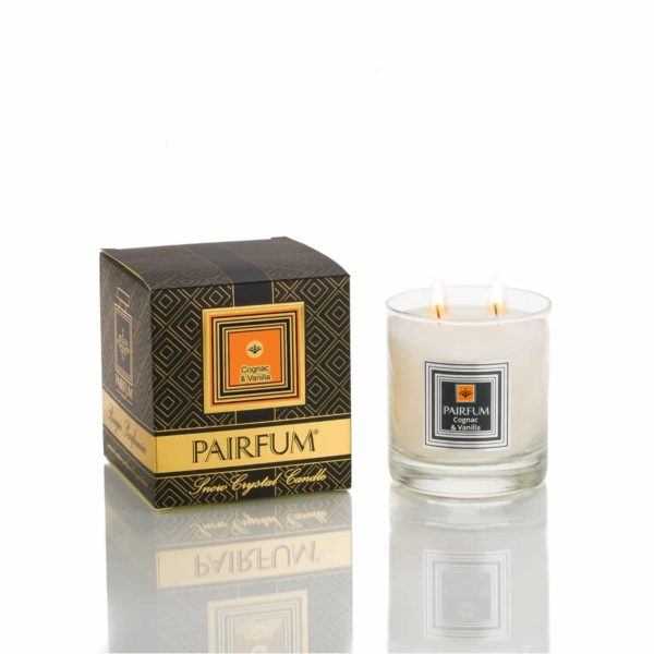 Pairfum Large Snow Crystal Candle Noir Cognac Vanilla