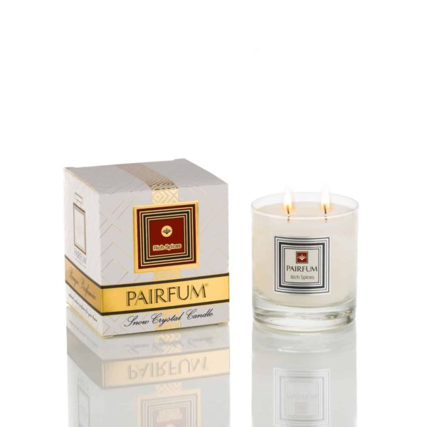 Pairfum Large Snow Crystal Candle Pure Rich Spices