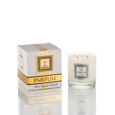 Pairfum Large Snow Crystal Candle Pure White Sandalwood