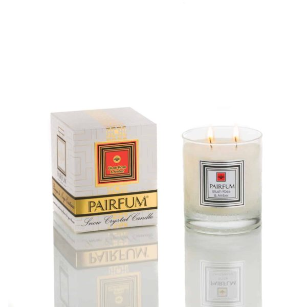 Pairfum Snow Crystal Candle Classic Pure Blush Rose Amber