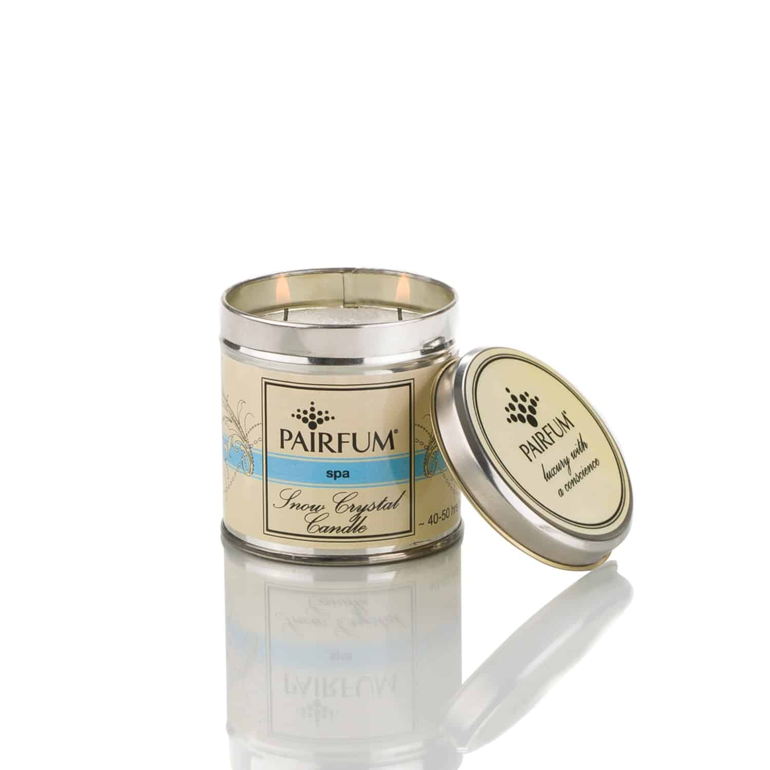 Natural Snow Crystal Candle In Tin