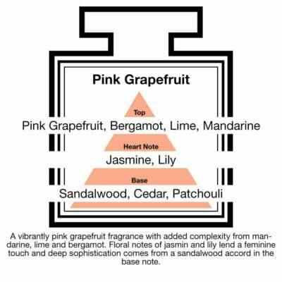 Fragrance Description Pink Grapefruit Mandarine Jasmine Patchouli Lime