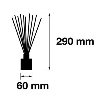 Pairfum Infographic Reed Diffuser Cube 100 Ml Size
