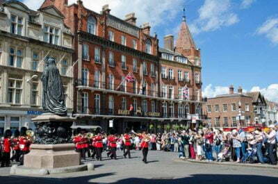 Windsor Town England Uk Royal Parade