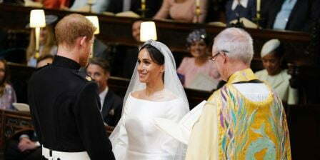 Prince Harry Meghan Markle Wedding Service Smile