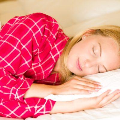 Sleeping Woman Bed Pijama Linen