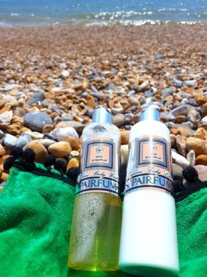 Organic Wash & Lotions Image On Beach Yanny or Laurel Moment