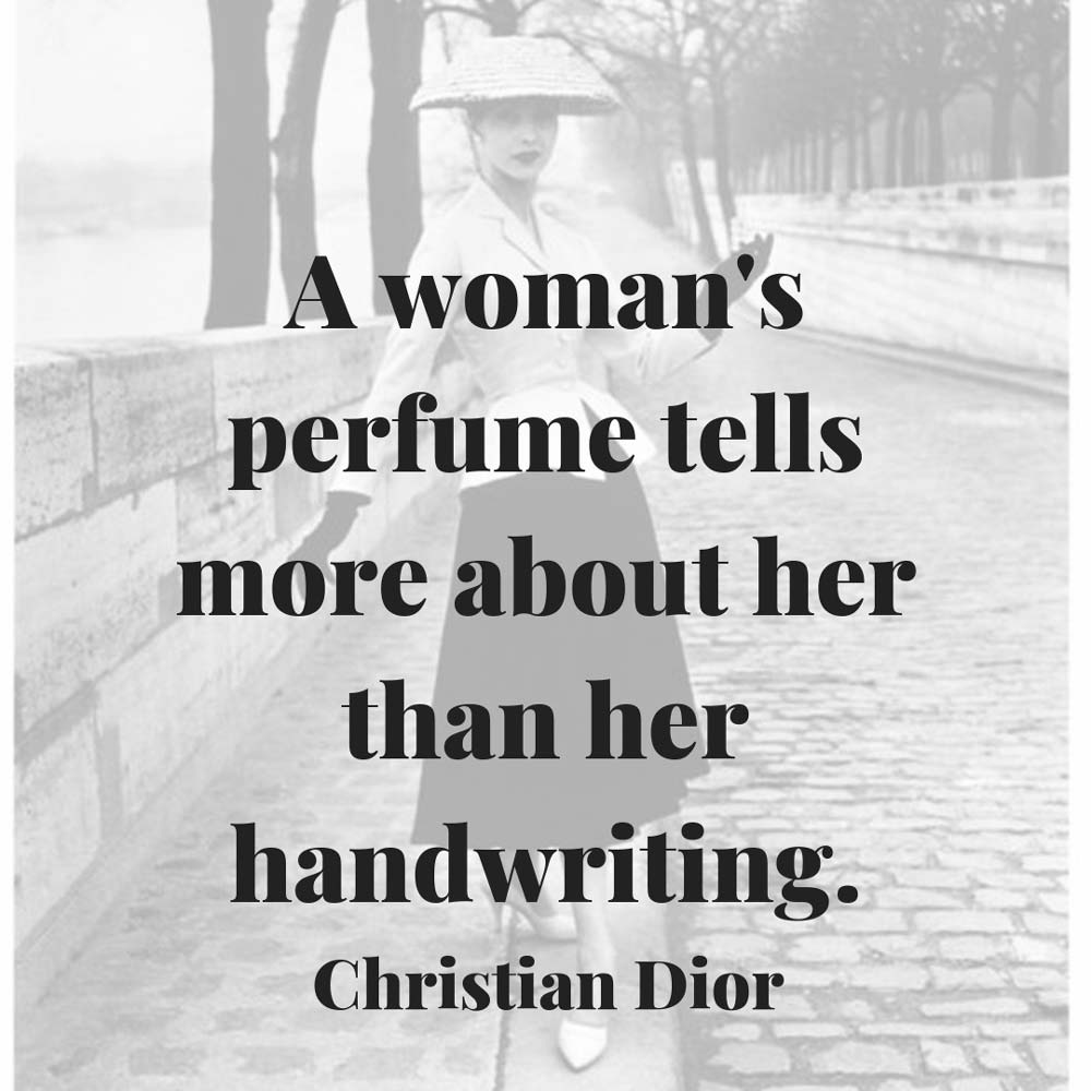 Christian Dior Womans Perfume Tells About Handwriting