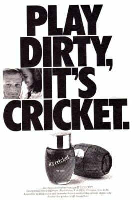 Play Dirty Its Cricket 1966 Aftershave