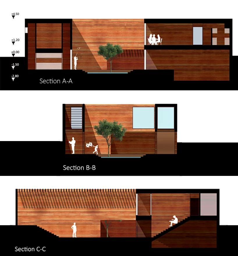 Earth House Iran Coutyard Wood Illustration