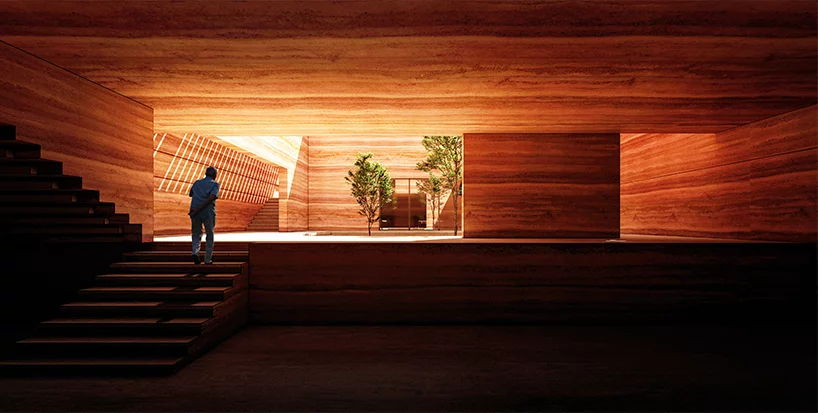Earth House Iran Coutyard Wood Light