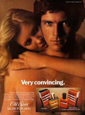 Old Spice Musk Perfume Ad Vintage