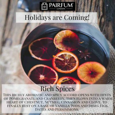Holidays Coming Pairfum Fragrance Gluhwine Spice Cinnamon Fruit