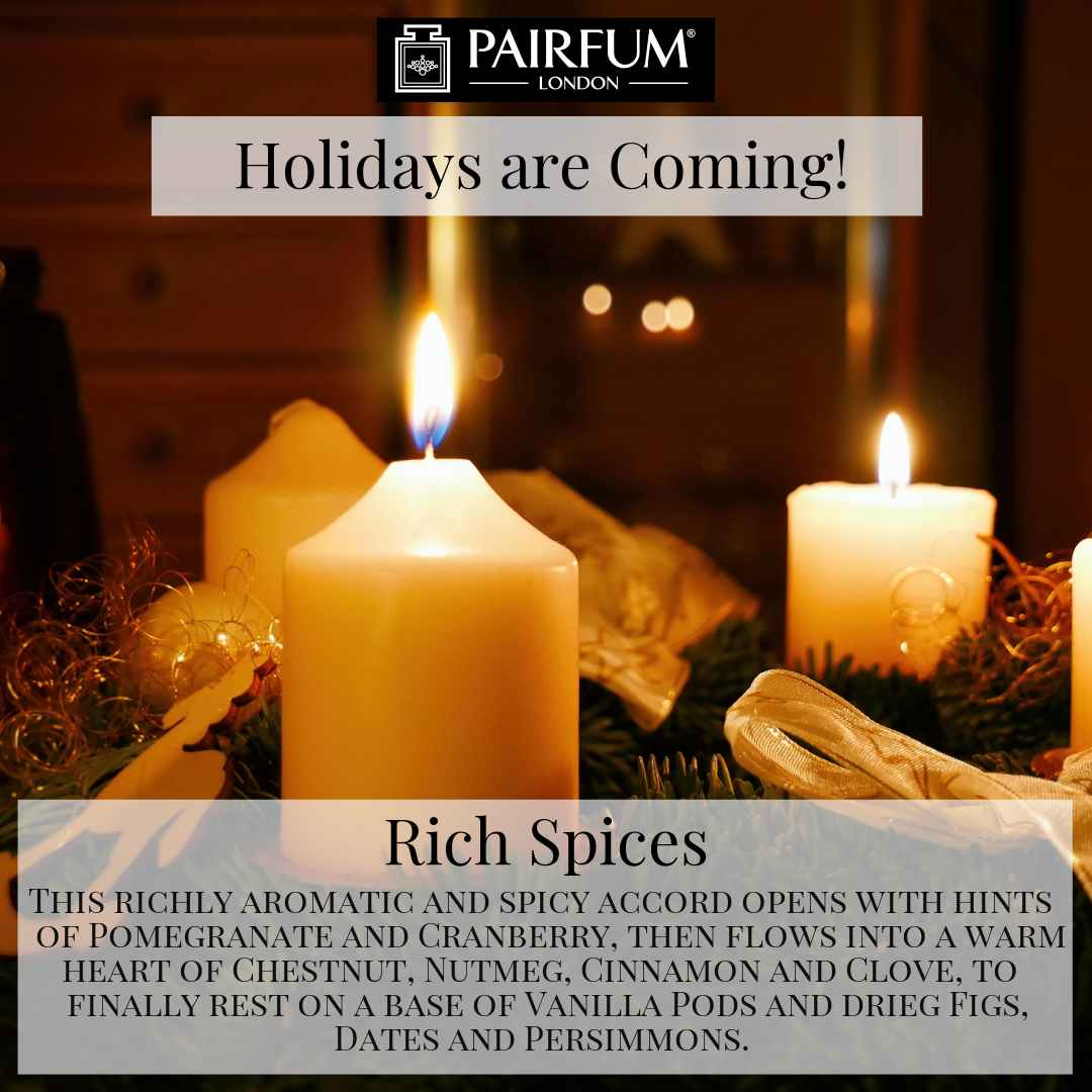 Holidays Coming Pairfum Fragrance Rich Spices Candle Table Light Christmas