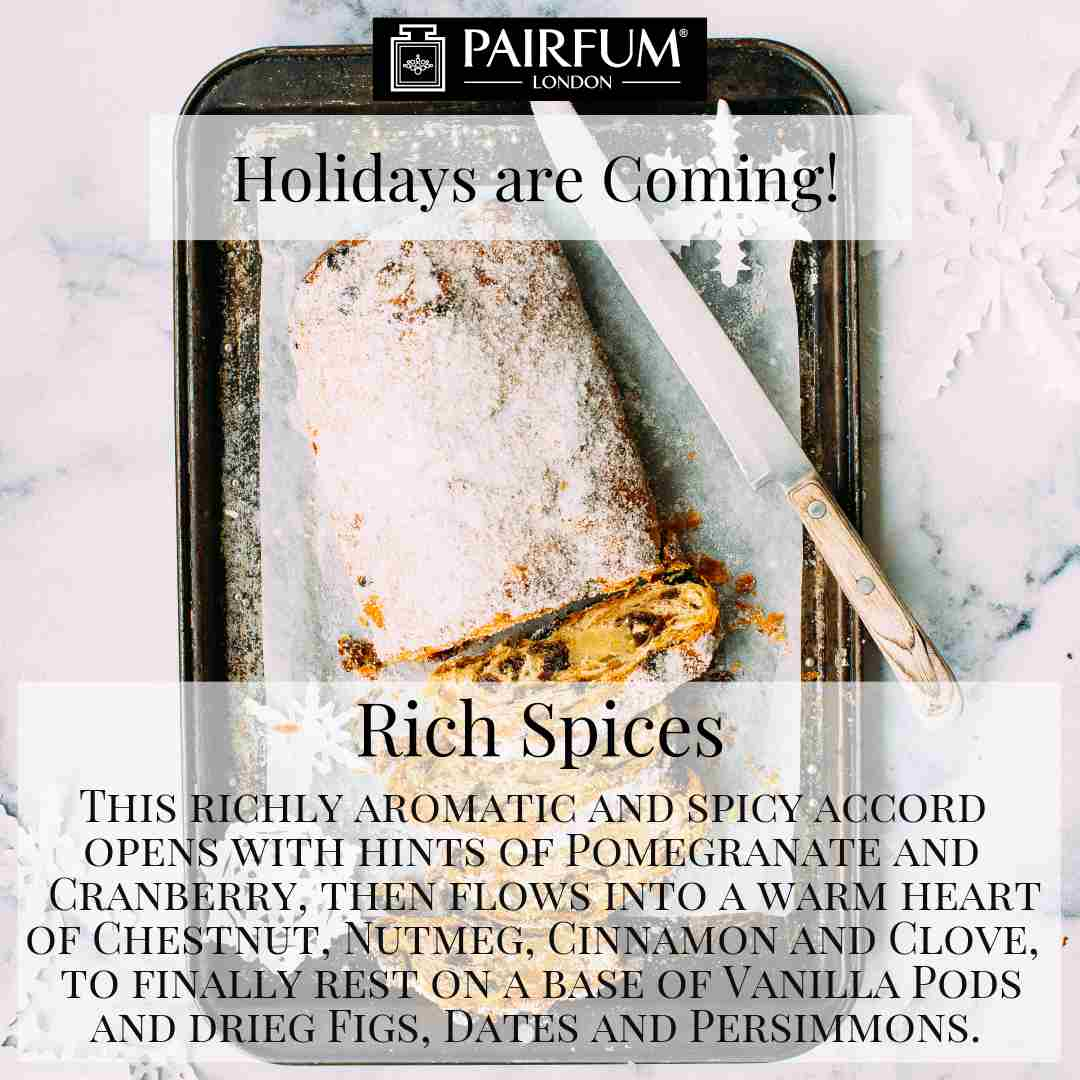 Holidays Coming Pairfum Fragrance Rich Spices Christmas Stollen