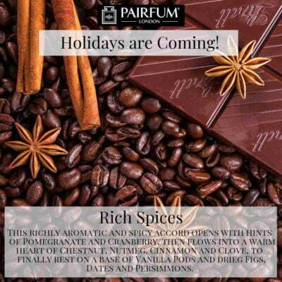 Holidays Coming Pairfum Fragrance Rich Spices Cocoa Cinnamon Anise