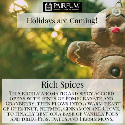 Holidays Coming Pairfum Fragrance Rich Spices Cookie