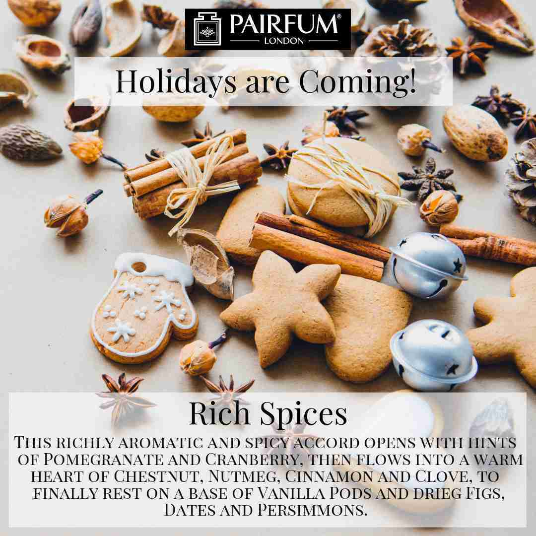 Holidays Coming Pairfum Fragrance Rich Spices Cookie Clove Cinnamon