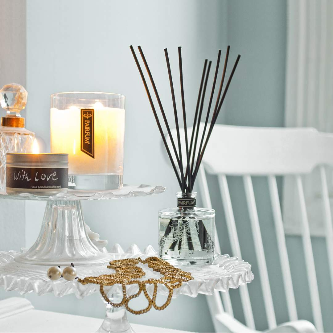 Living Room Natural Reed Diffuser Luxury Perfumed Candle
