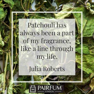 Perfume Paltchouli Thread Life Julia Roberts Green