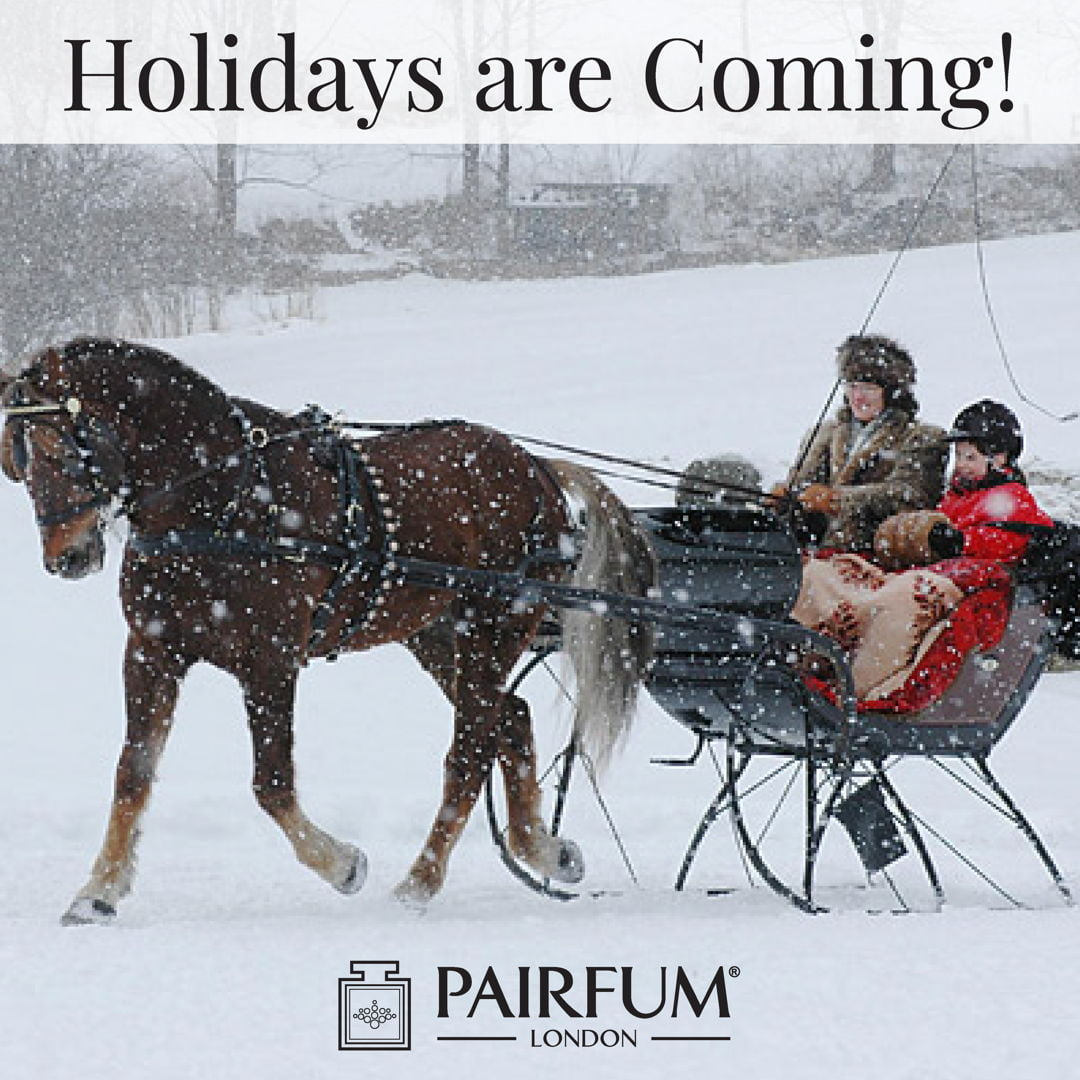 Pairfum London Holidays Coming Snow Santa's Sleigh