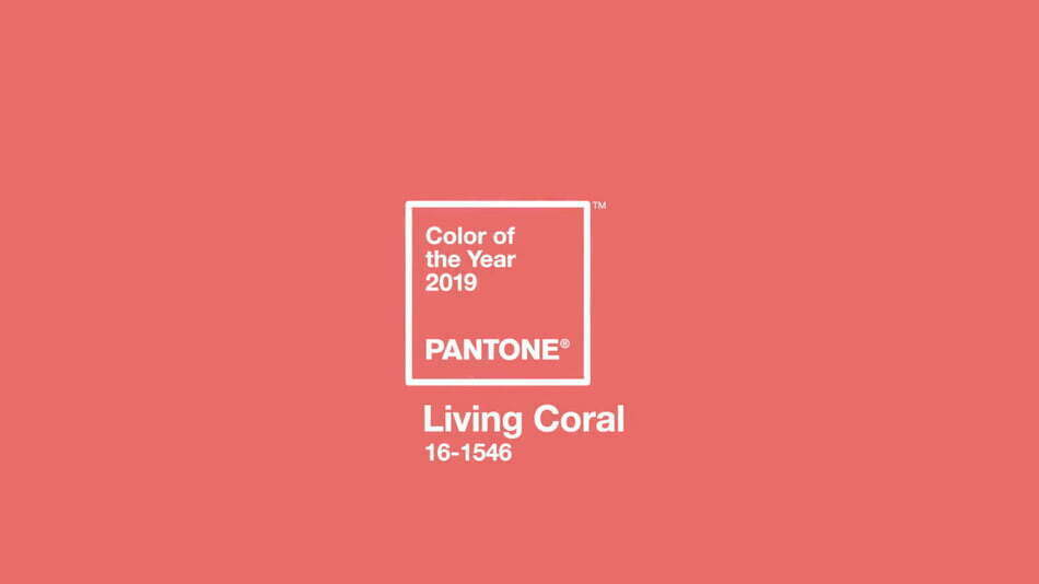 Pairfum Pantone Living Coral Colour Year 2019 Patch