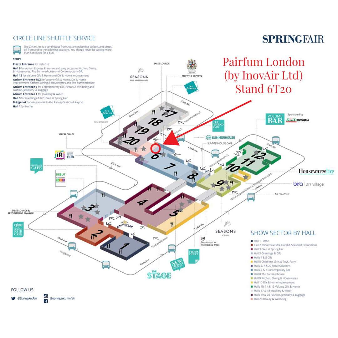 Springfair 2019 Floorplan Pairfum London 6T20