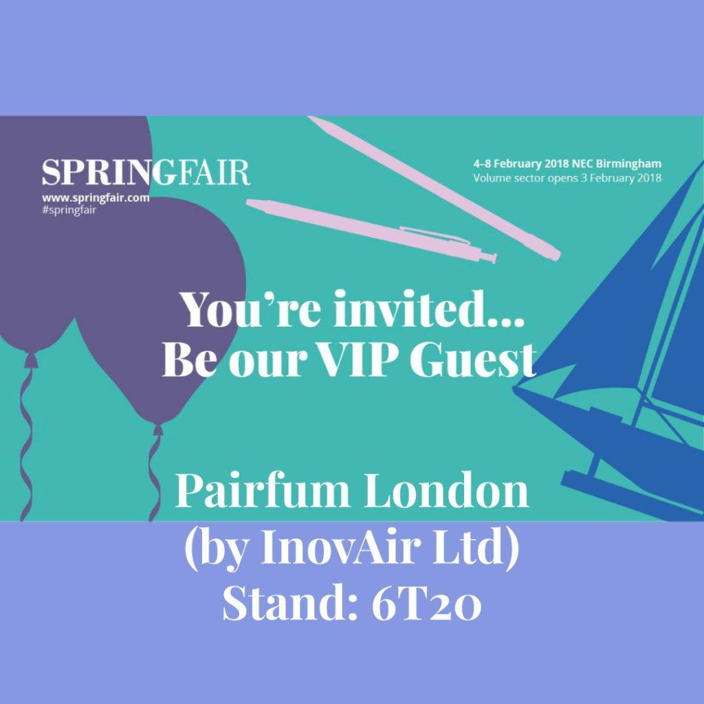 Springfair 2019 VIP Invite Pairfum London Fragrance