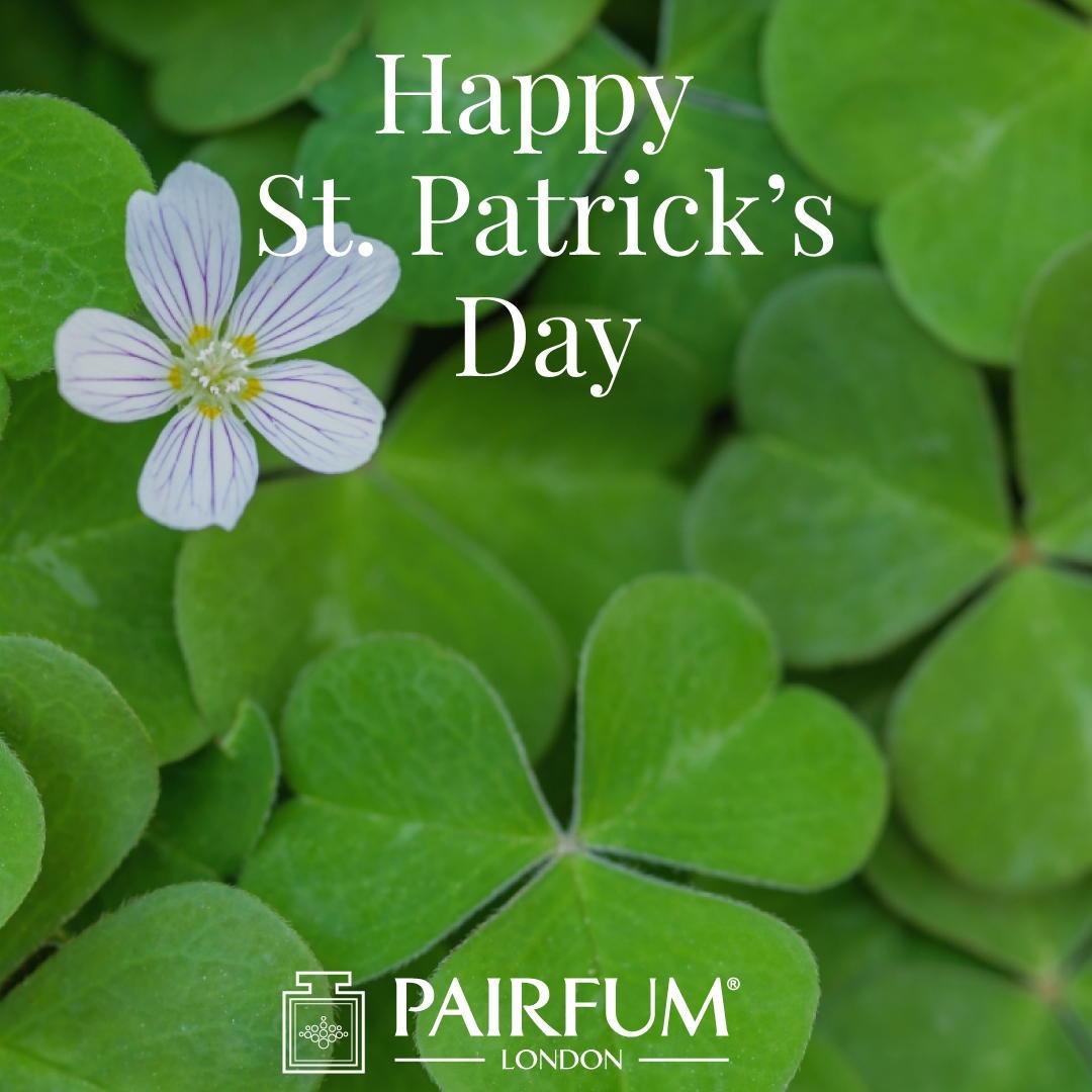 Perfume Green Shamrock Flower Happy St Patricks Day