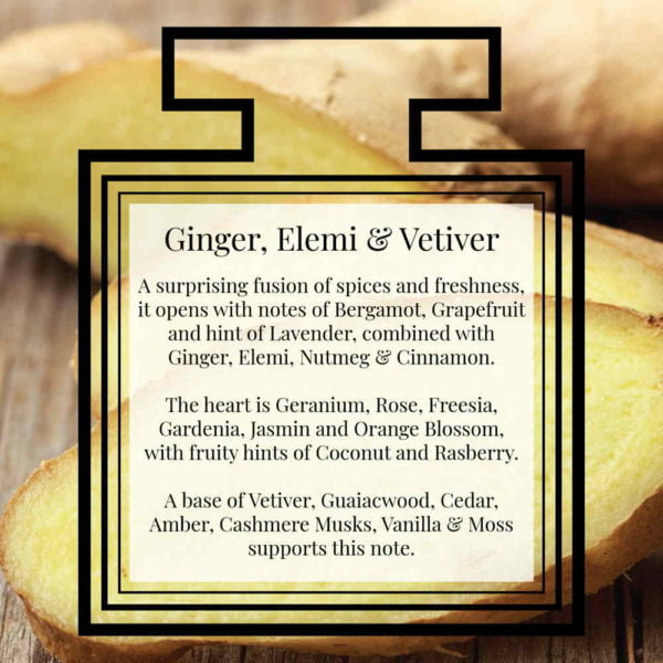 Pairfum Fragrance Ginger Elemi Vetiver Description