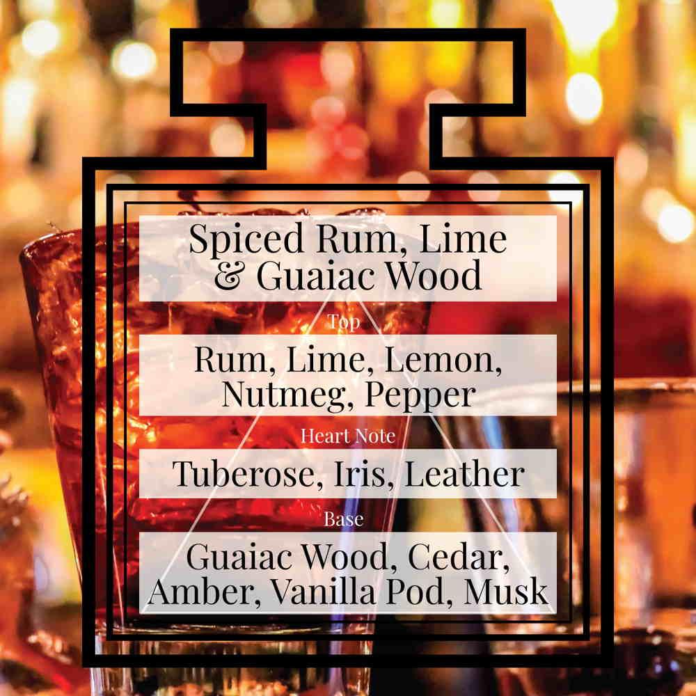 Pairfum Fragrance Spiced Rum Lime Guaiac Wood Triangle