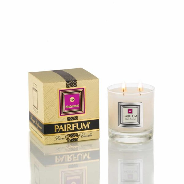 Pairfum Large Snow Crystal Candle Signature Black Orchid Jpg