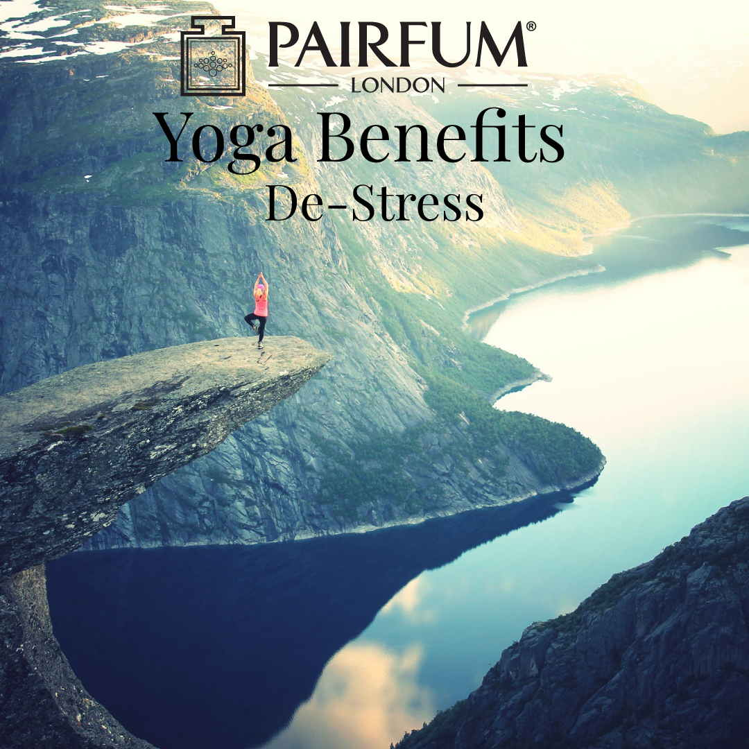 Yoga Benefits Rock Woman Meditate De Stress Clean Air