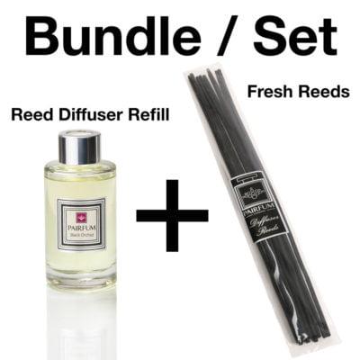 Bundle Set Reed Diffuser Large Reeds Black Orchid