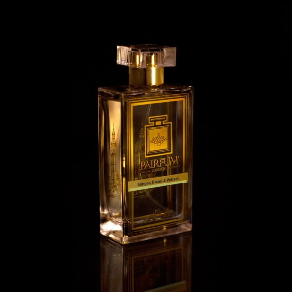 Eau De Pairfum Ginger Elemi Vetiver Bottle